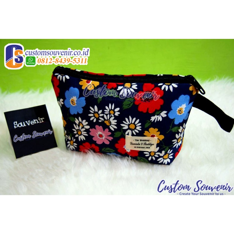 Dompet Canvas Motif