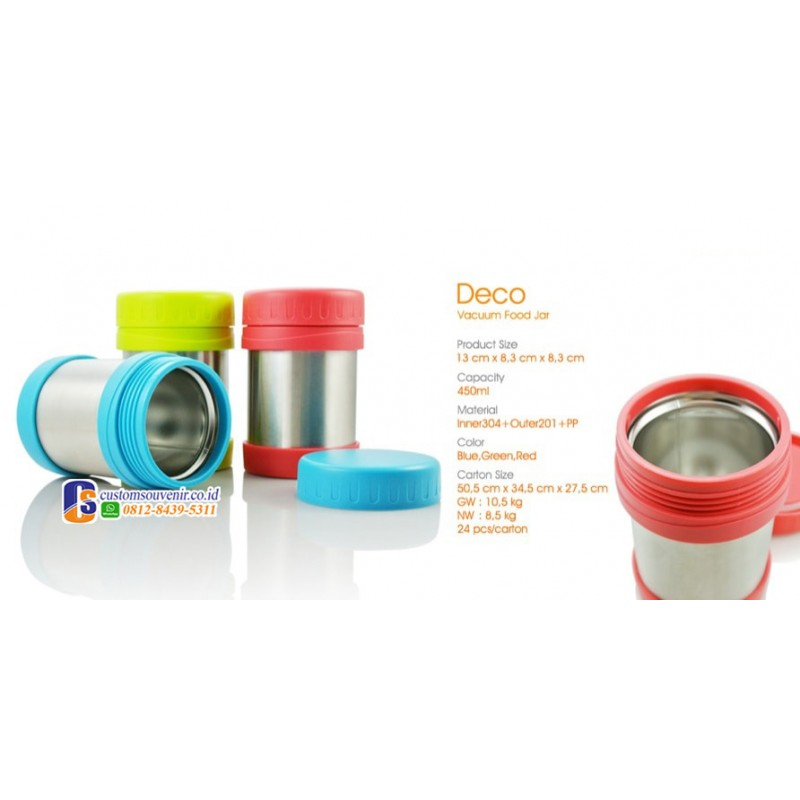 Deco Vacuum Food Jar